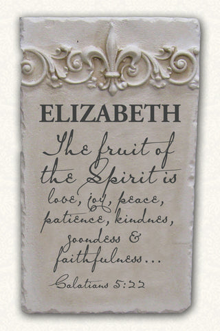 Personalized Name Plaque Galatians 5:22