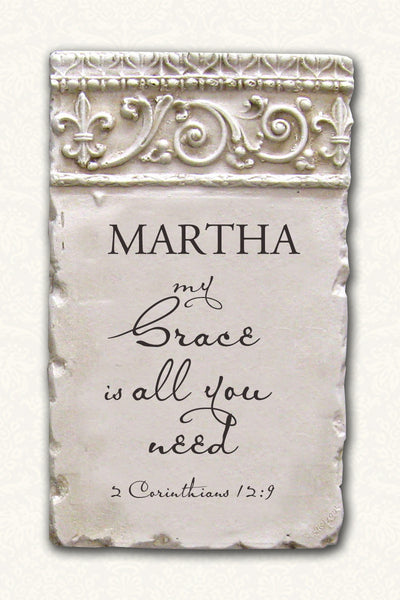 Personalized Name Plaque 2 Corinthians 12:9