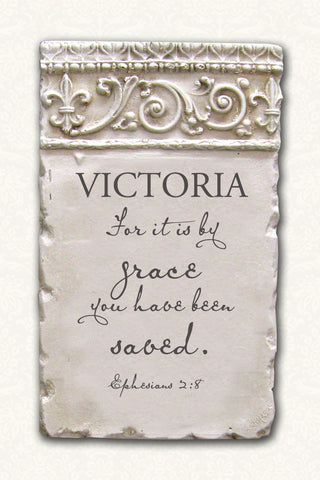 Personalized Name Plaque Ephesians 2:8