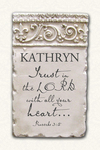 Trust Proverbs 3:5 Custom Scripture Plaque