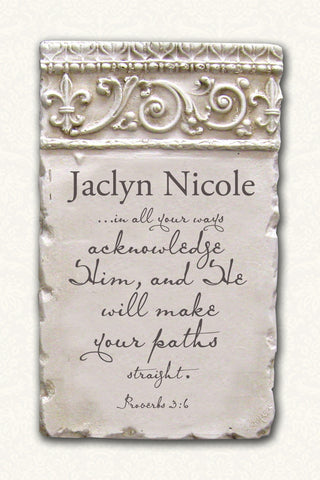 Personalized Name Plaque Proverbs 3:6