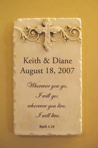 Personalized Ruth 1:16 Custom Scripture Plaque