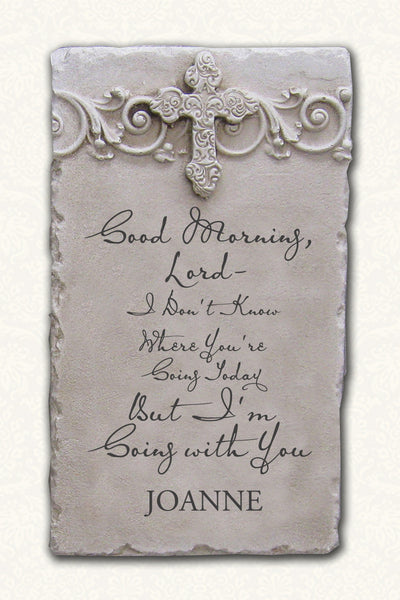 "Personalized Name Plaque ""Good Morning Lord"""