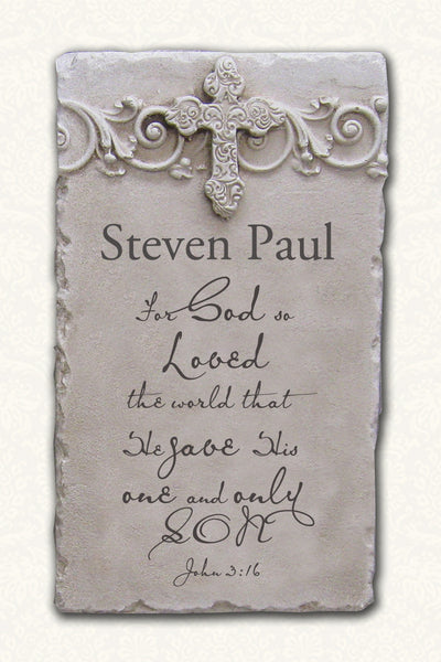 Personalized Name Scripture Plaque John 3:16