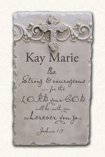 Personalized Name Plaque Joshua 1:9