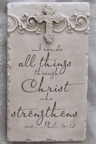 Strength Scripture Stone Plaque Philippians 4:13