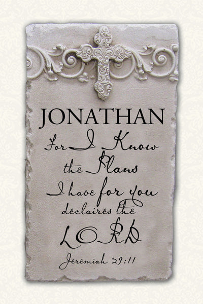 Personalized Name Plaque Jeremiah 29:11 Partial Verse