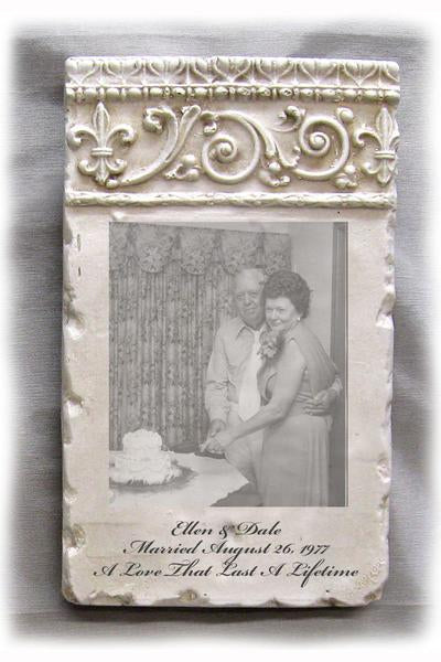 Custom Photo Plaque - Vertical Scroll Header