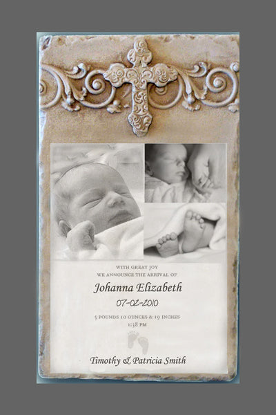 Custom Photo Plaque - Vertical Cross Header