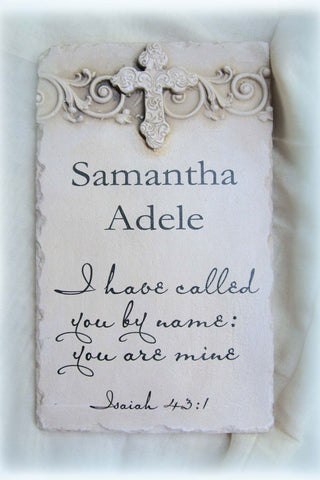 Isaiah 43:1 Personalized Name Plaque