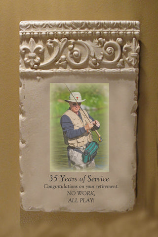 Custom Photo Plaque - Vertical Scroll Header-Occupation or Hobby
