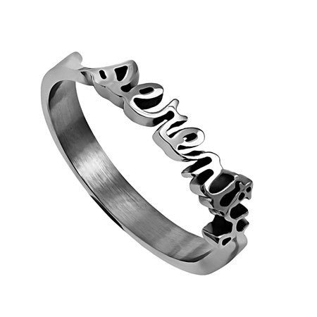 Handwriting Ring Serenity
