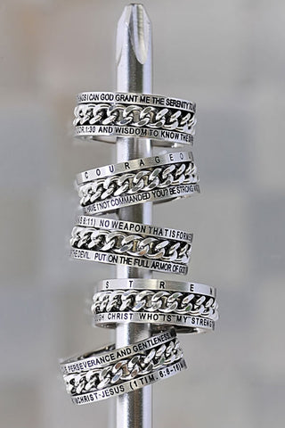 Chain Ring Serenity Prayer