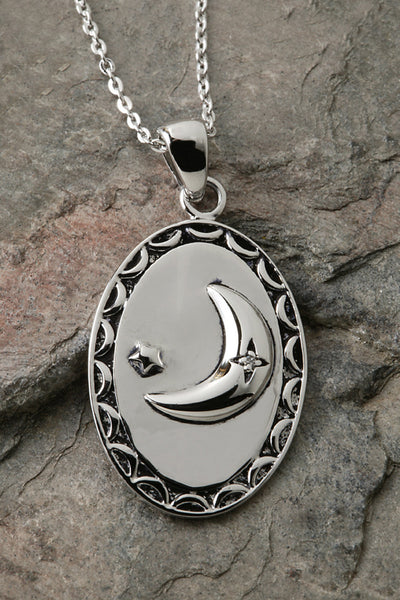 I Love You to the Moon and Back Sterling Silver Pendant