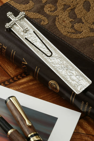 Engraved Cross Bookmark