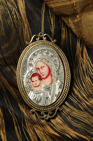 Iconica Mary and Baby Brooch