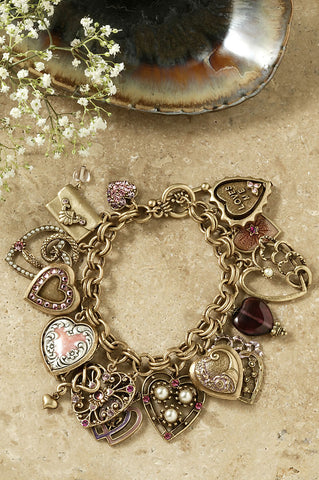 Charm Bracelet-All My Love Hearts