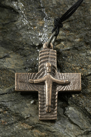 Bronze Resurrection Cross Pendant