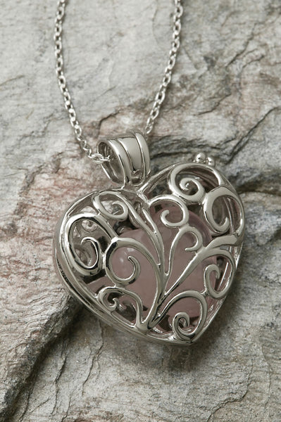Always in My Heart Rose Quartz Locket
