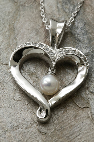 Heart and Soul Freshwater Pearl Pendant