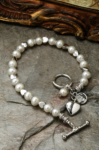 Friendship Bracelet with Pearls