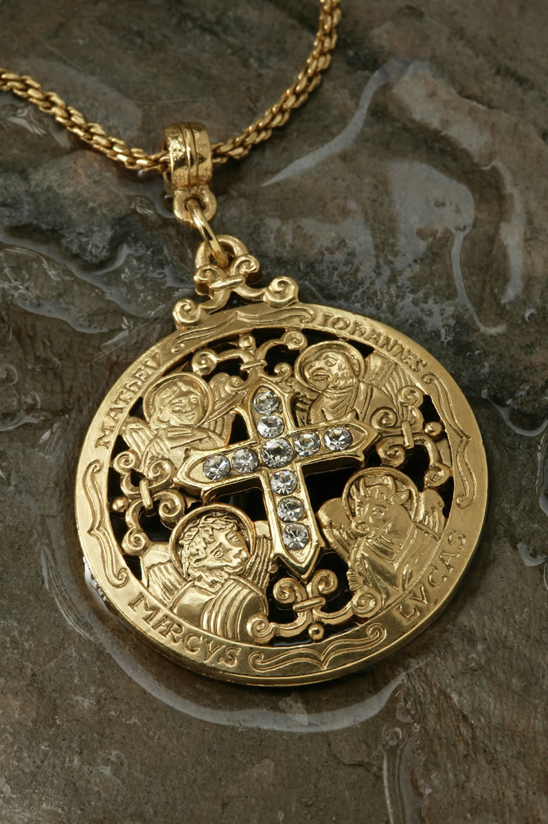 Writers of the Good Word-Gold Medallion Pendant ...