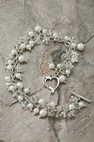 Blessed Bracelet with Freshwater Pearls