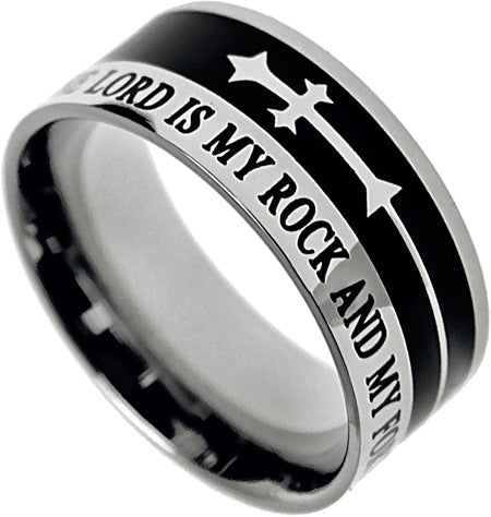 "A-Cross Ring ""The Lord Is My Rock"""