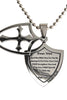 2 Piece Shield Cross Necklace Fear Not Isaiah 41:10