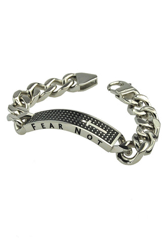 Shield Cross Bracelet Fear Not Isaiah 41:10