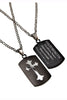 Black Shield Cross Necklace Philippians 4:13