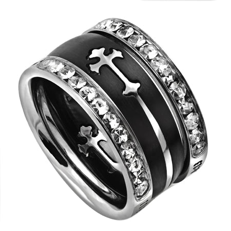 Tiara Mini Double Cross Band Black