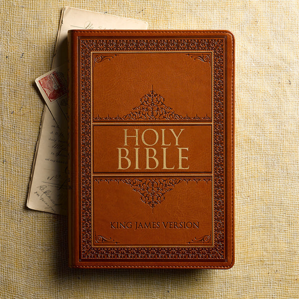 KJV Large Print Indexed Bible Tan