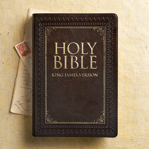 KJV Large Print Thinline Indexed Bible Brown