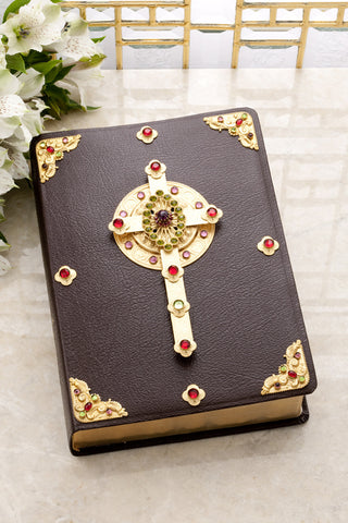 Celtic Cross Heritage Bible - Burgundy