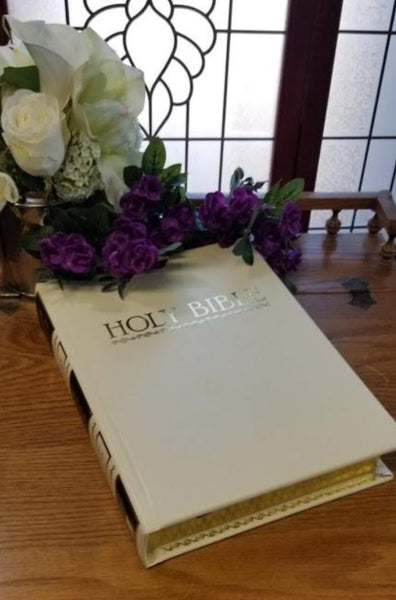KJV Family Edition Bonded Leather Bible-Ivory