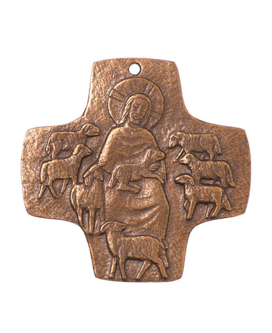 Bronze Good Shepherd Cross