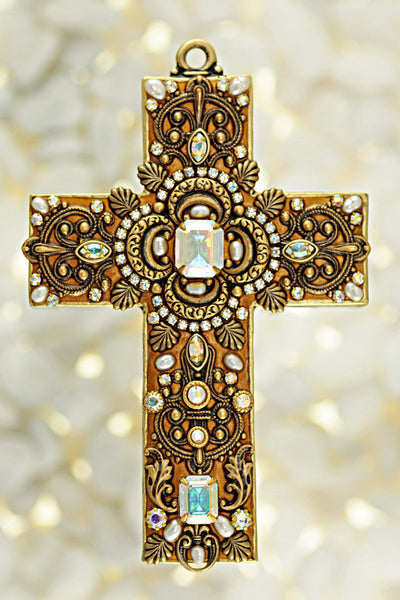 Freshwater Pearl Gemstone Wall Cross