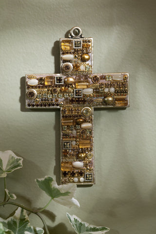 Citrine Gemstone Wall Cross