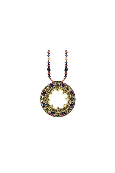 Florence Hoop Gemstone Necklace