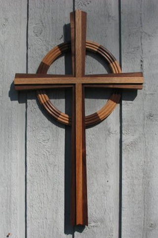 Celtic Hardwood Disciple Cross Choice of sizes 2.5' or 5'