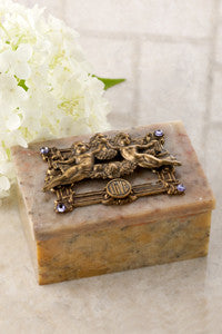 ON SALE Angels of Love Soapstone Box