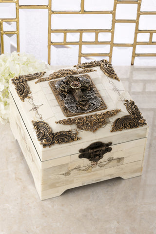 Crystal Cross Bone Keepsake Box Limited Edition