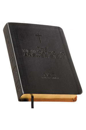 NAB New Catholic Answer Bible - Librosario Large Print Black and Tan