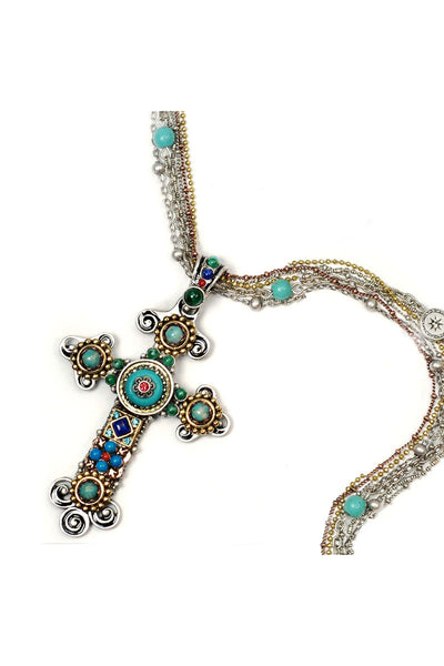 Desert Gypsy Jeweled Cross Pendant