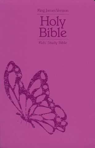 KJV Kids Study Bible-Pink Butterfly