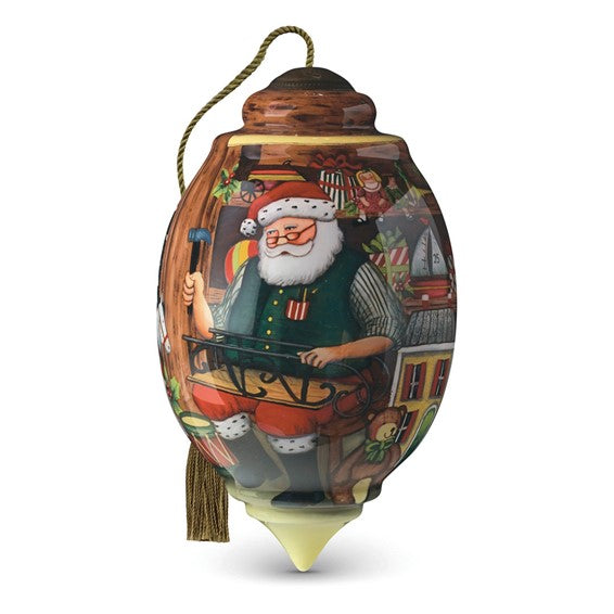 Santas Toy Shop Handpainted Ornament