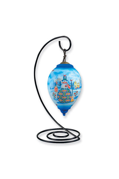 Ornament Hanger for Reverse Hand-Painted Glass Ornaments