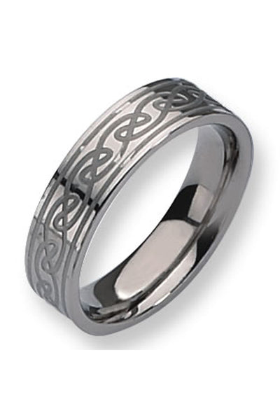 Titanium Celtic Knot 6mm Band
