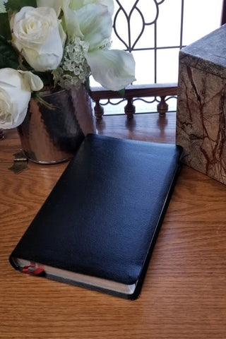 NIV Comfort Print Thinline Reference Bible, Bonded Leather, Black, Indexed